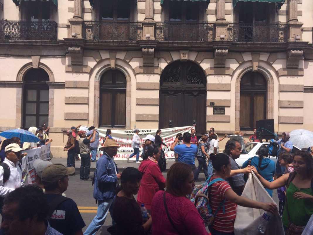 Se manifestará CNTE frente al Congreso de Michoacán