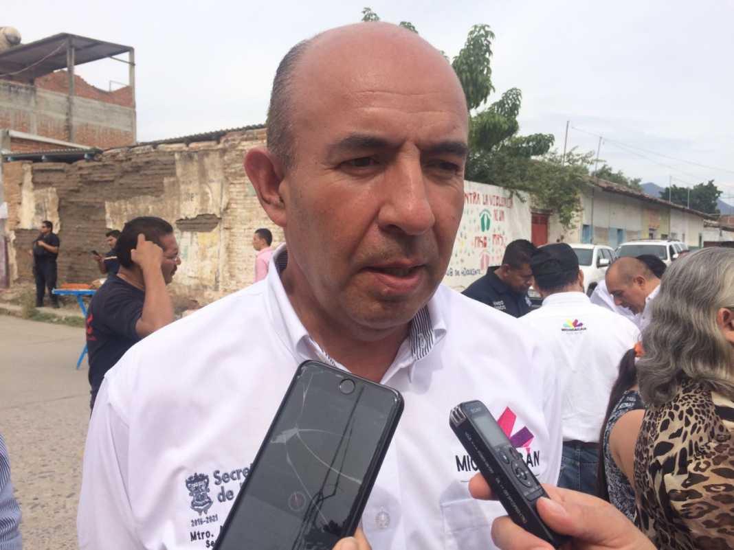 """Morelia, Michoacán.- """"Tiene la información al señor presidente (Andrés Manuel López Obrador) para que determine de aquí a lo que falta de este año qué parte"""