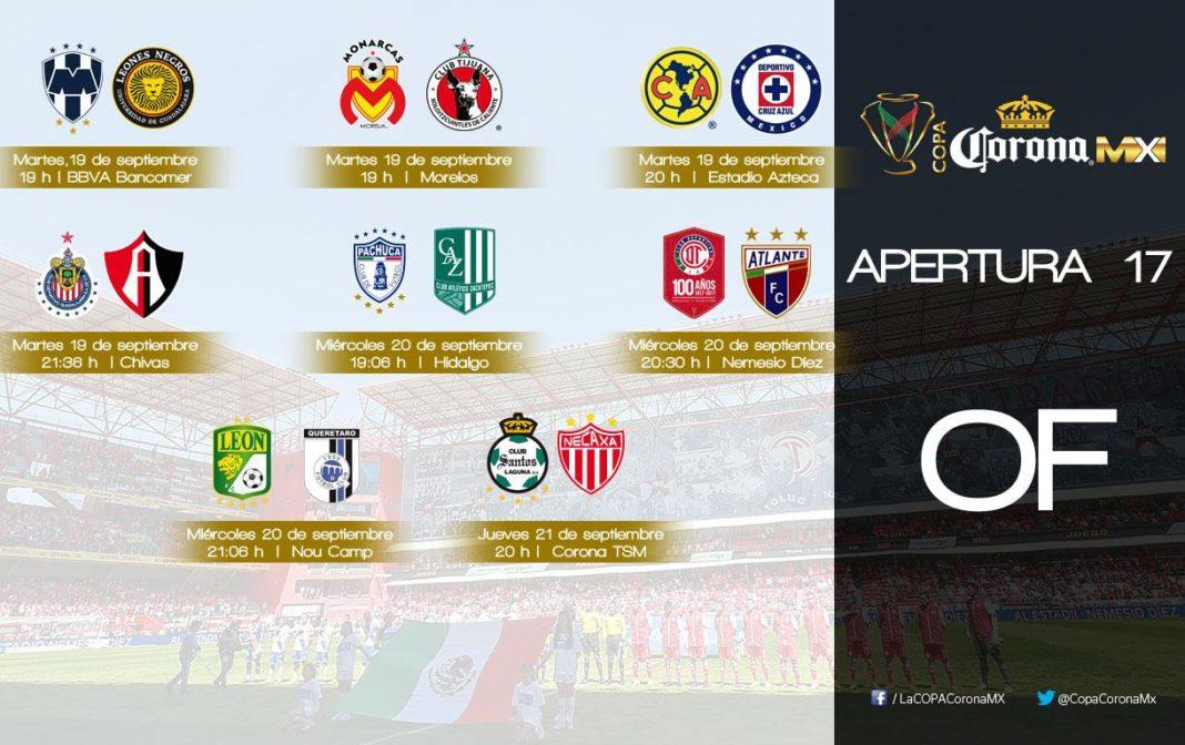 Se reprograman los partidos de octavos de final de Copa MX