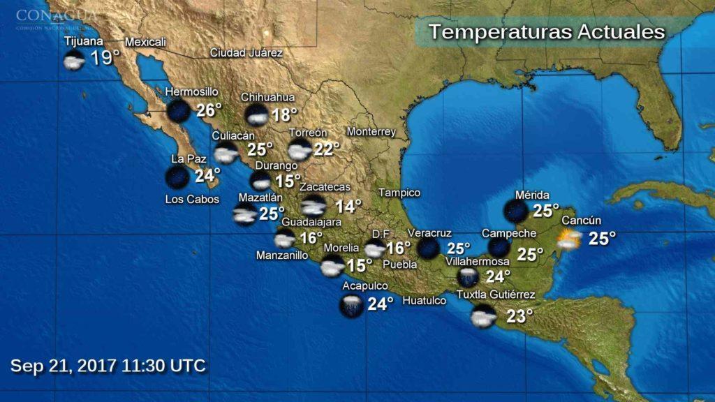 Se esperan tormentas muy fuertes al sur de ambos litorales