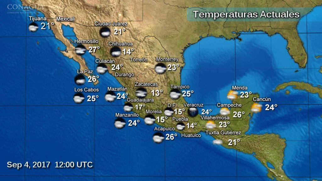 Se esperan lluvias intensas en gran parte del territorio mexicano