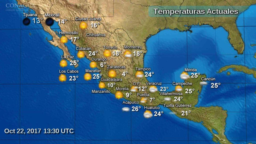 Pega frente frío número 6 a 20 estados del país