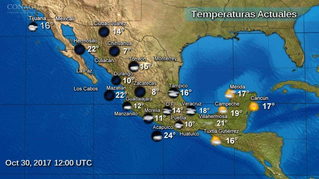 Pronostican cielo nublado con lluvias y chubascos para la CDMX