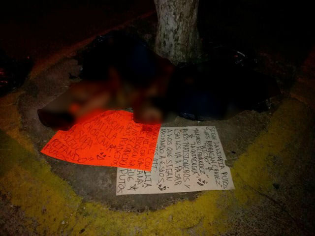 Abandona dos cuerpos desmembrados en Apatzingán y Tocumbo