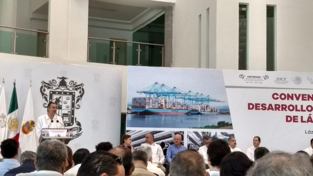 La Unión: Concretan convenio de coordinación para ZEE Lázaro Cárdenas