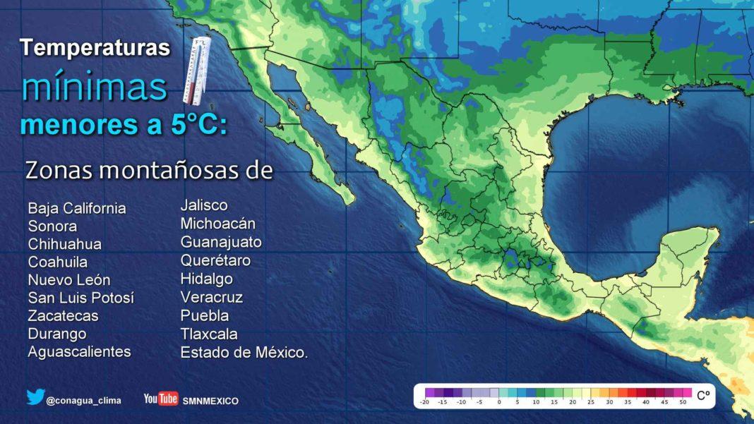 SMN pronostica máximas superiores a 35°C en 16 entidades, entre ellas Colima