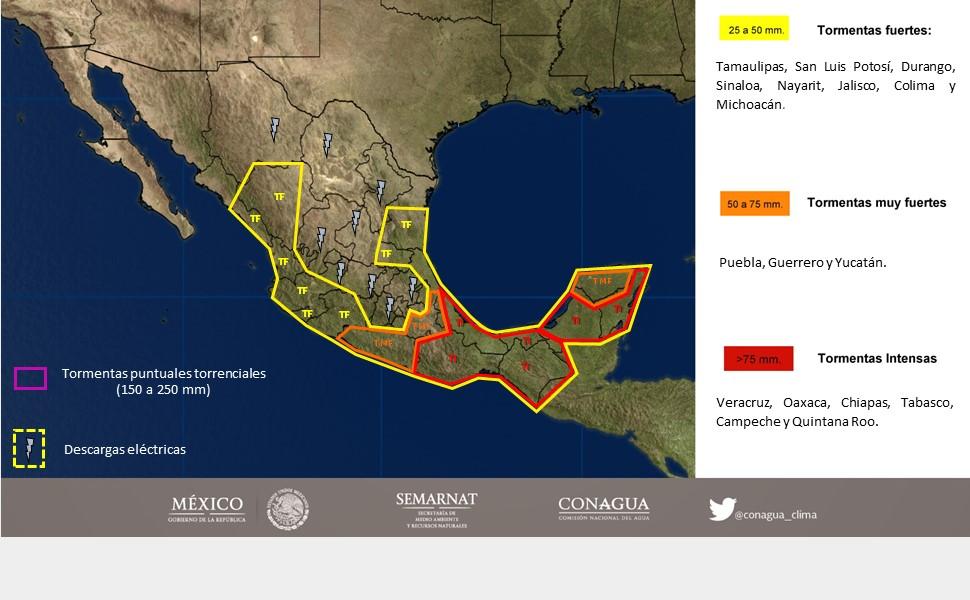 Vigilan costas de Oaxaca y Guerrero por tormenta tropical Ramón