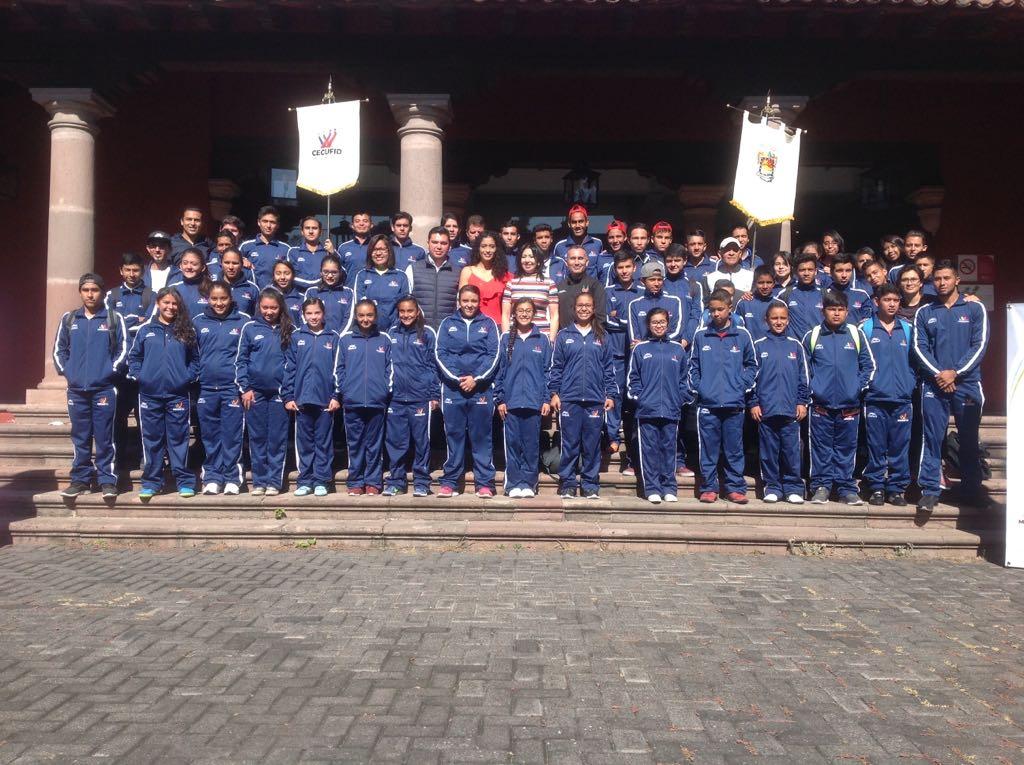Abanderan a la delegación michoacana que participará en los Juegos Nacionales Populares