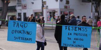 Sindicatos toman calles de Morelia