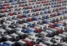 Baja venta de automóviles en el país