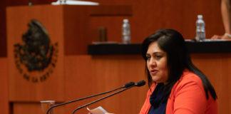 La senadora señala que se requieren tener datos más exactos del desplazamiento interno