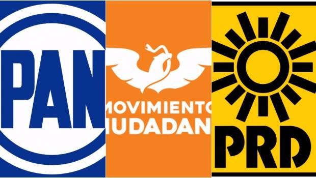 Registran PRD, PAN y MC coalición