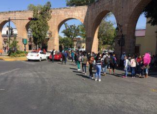 Normalistas marchan en Acueducto
