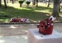 Dañan esculturas en el bosque Cuauhtémoc