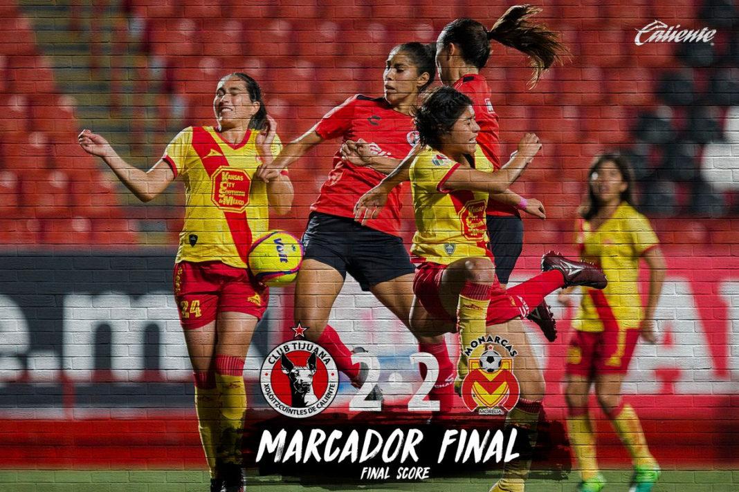 En emocionante partido, Monarcas Femenil le saca el empate a Tijuana