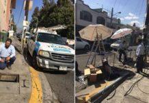 Roban cables del Telmex en Lomas del Valle