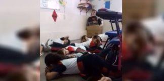 Maestra fingió simulacro ante balacera