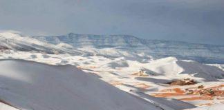 Vuelve a caer nieve en el Desierto del Sahara tras 40 años