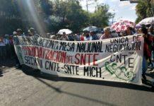 Se moviliza CNTE; exigen pagos