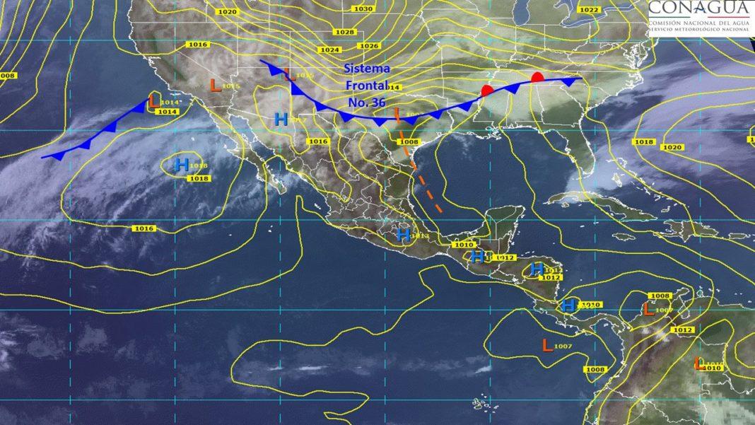 Nuevo frente frío ocasionará descenso de temperatura en sureste del país