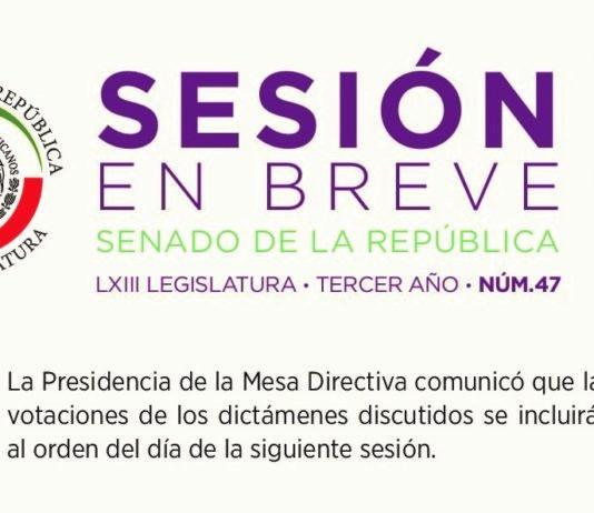 Resumen de la Sesión del Senado de la República