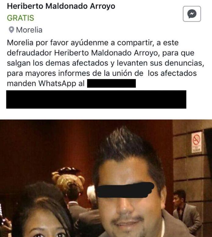 Morelianos detienen a presunto defraudador