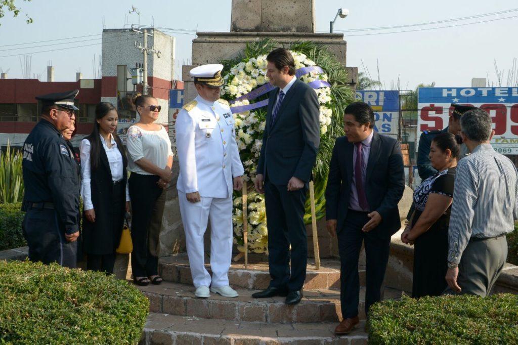 Conmemoraron autoridades la Gesta Heroica de la Defensa de Veracruz