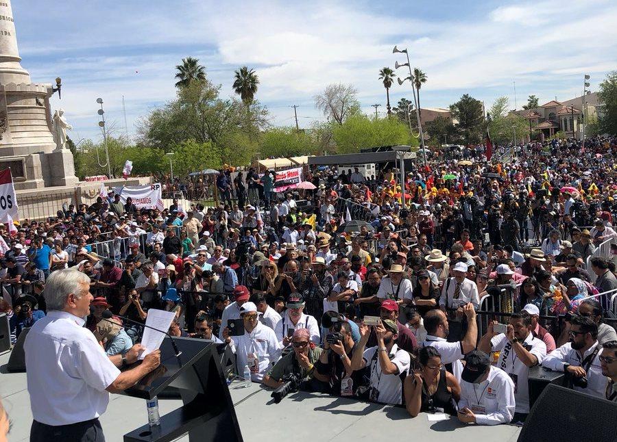 López Obrador señaló que en caso de ganar las elecciones entablará un gobierno ejemplar y austero.|