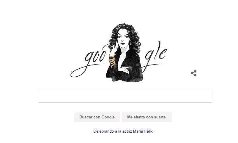 Google recuerda a María Félix