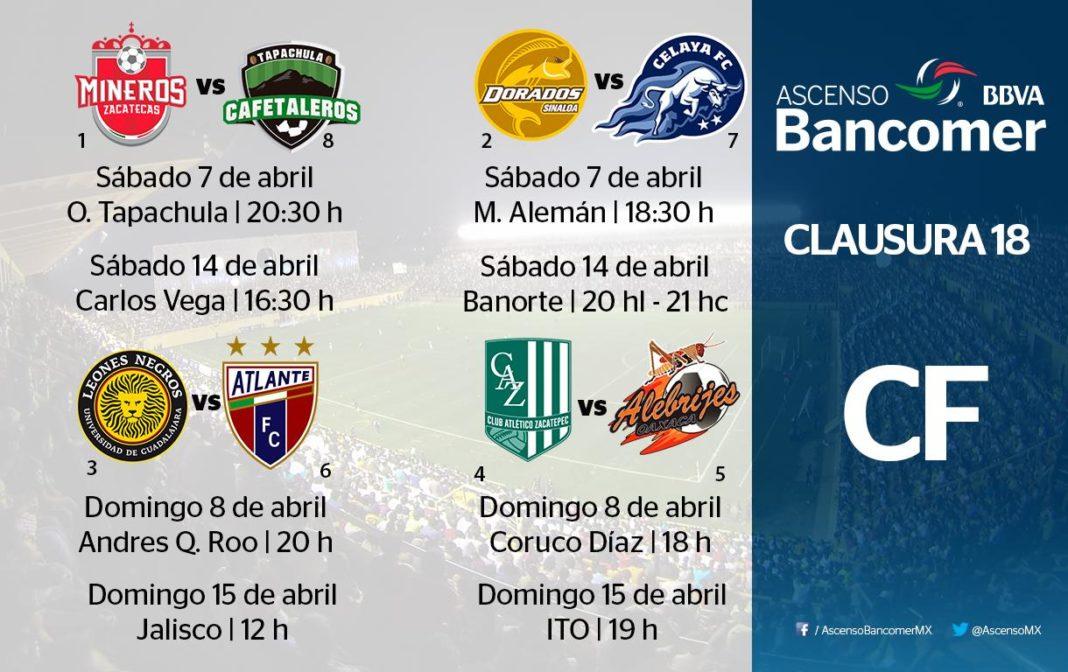 A través de sus redes sociales la Liga MX dio a conocer la programación de  los 8a83ea9ce6002