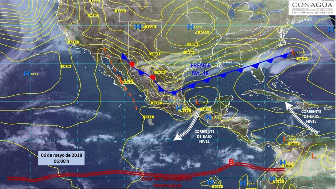 Frente frío 48 causará fuertes lluvias en el país