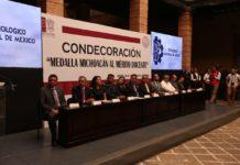 """Tecnológico de Morelia recibió la condecoración """"Medalla Michoacán al Mérito Docente"""""""