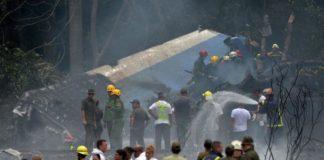 Avión se estrella al despegar de La Habana, Cuba
