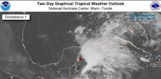 Se forma en el Golfo la tormenta tropical Alberto
