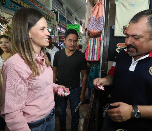 Daniela sin amenazas en campaña por Morelia