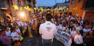 Frente por México arrasará en Morelia: Toño García