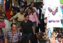 Daniela compromete apoyo a locatarios de Mercado de Dulces