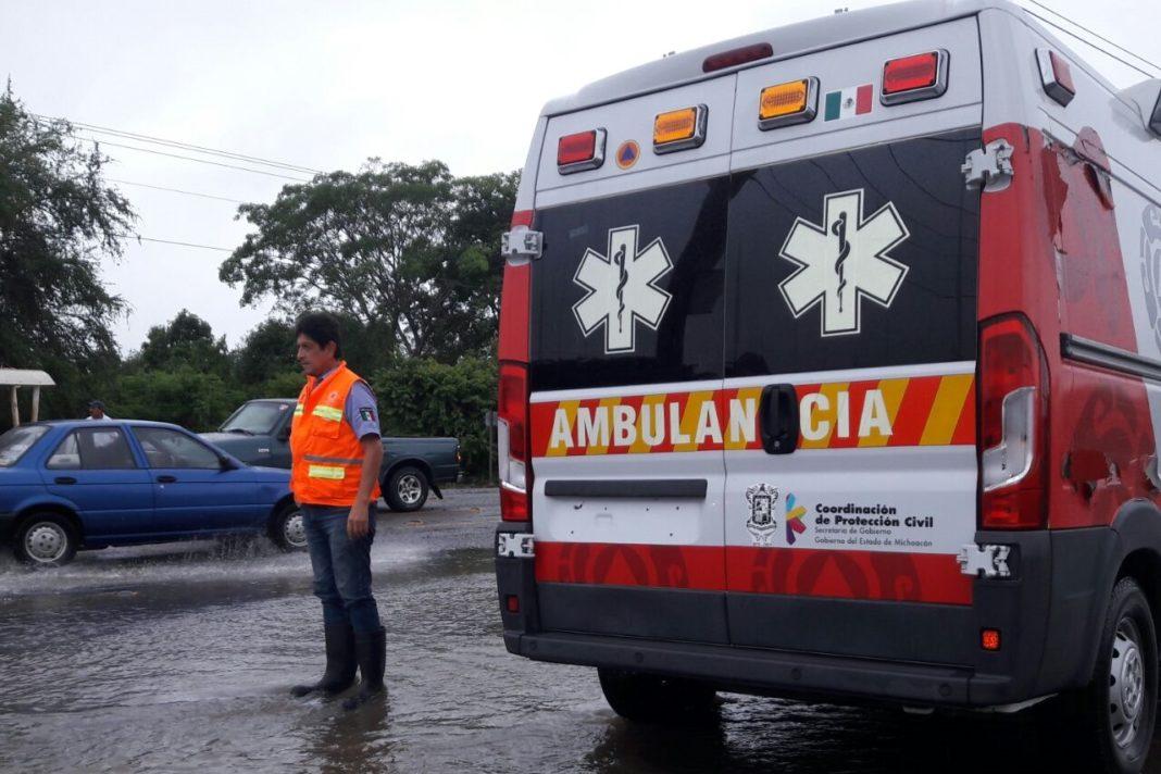 Se accidenta director de Seguridad de Panindícuaro y tres policías