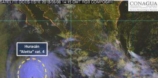 Se intensifica alerta a huracán categoría 4