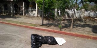 Encuentra cadáver en bolsa de plástico en Buenavista