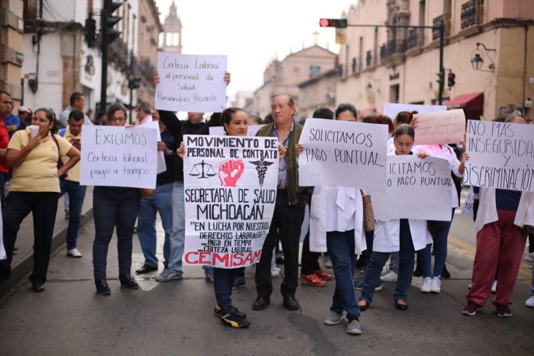 Trabajadores de SSM exigen pago de adeudos