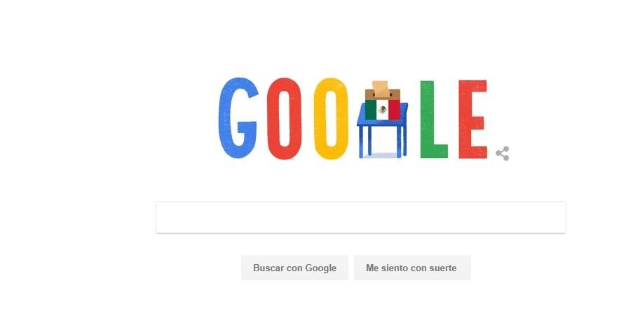 Presenta Google doodle especial por la jornada electoral 2018