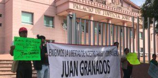 Manifestantes exigen liberación de regidor detenido por secuestro