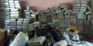 Aseguran dos toneladas de droga en Aguililla