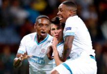El 'Chuky' Lozano marca gol en la previa de la Champions League