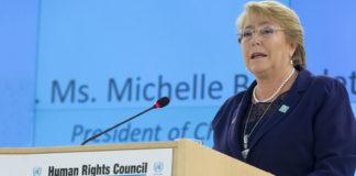 Expresidenta de Chile, nombrada comisionado de DH en ONU