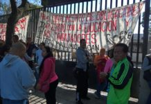 CNTE exige pago de bonos afuera de la Secretaría de Finanzas
