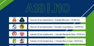 La previa de la Jornada 10 del Apertura 2018