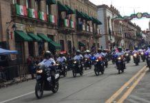 Con una extensa participación y sin contratiempos concluyó desfile en Morelia