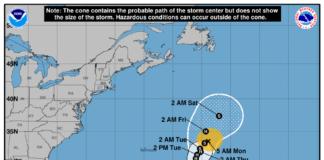 Se forma en el Atlántico la tormenta tropical Lesli